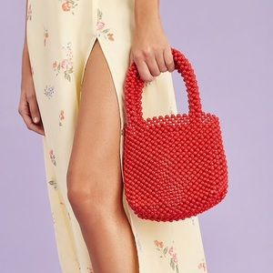 Red beads bag